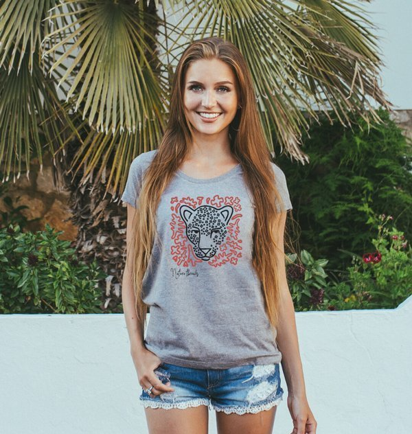 Women's Leopard Nature Threads Tee - Nature Clothing