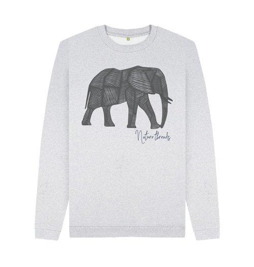Nature Inspired Clothing - Men's Circular Elephant Crew Sweat