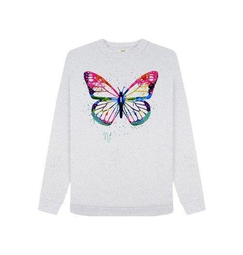 Women's Circular Butterfly Crew Sweat - Nature Threads